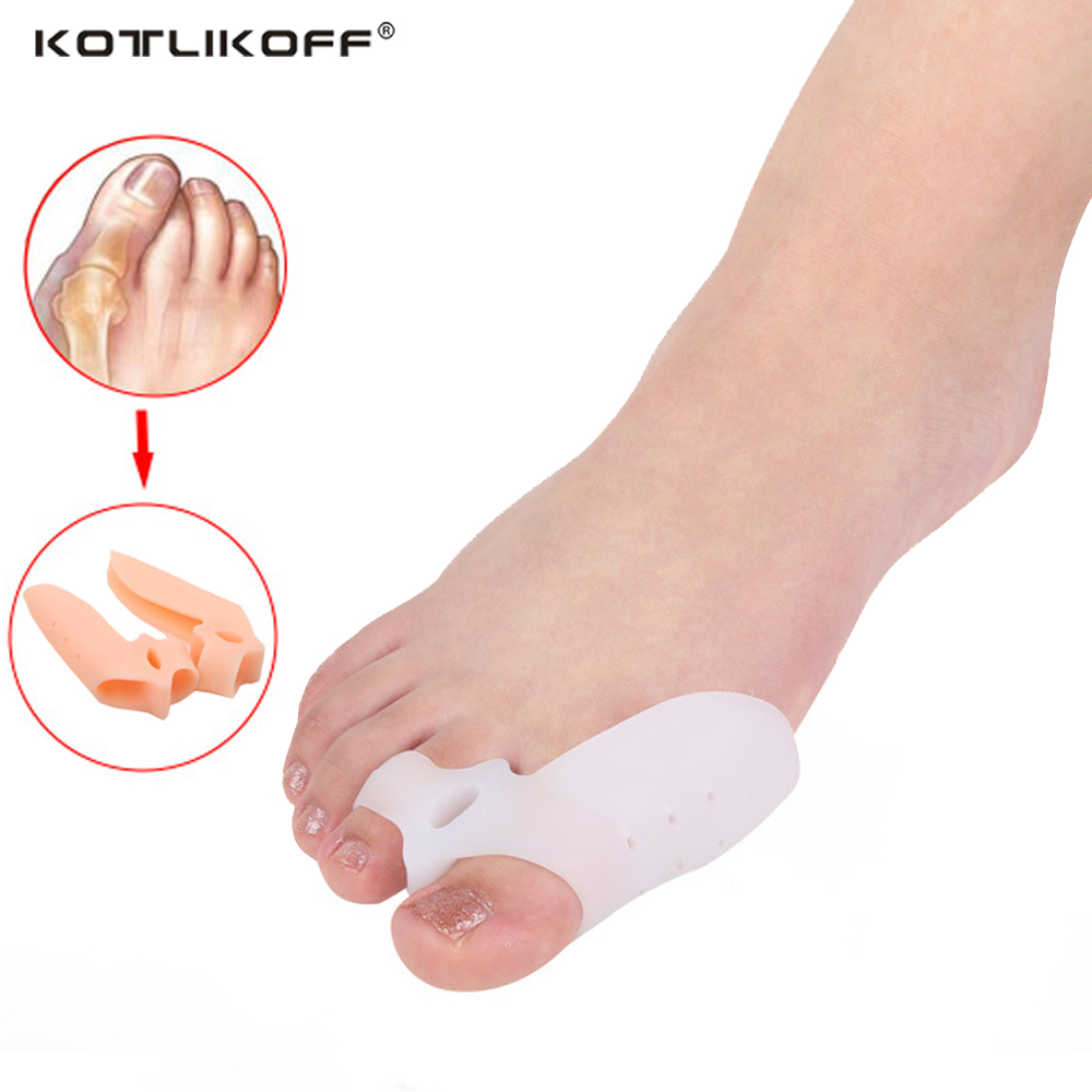 Hallux Valgus Orthopedic Insoles Toe Separators Silicone Toe Pads Protectors Pain Relieve Feet Care Soft Silicone Shoe Pad