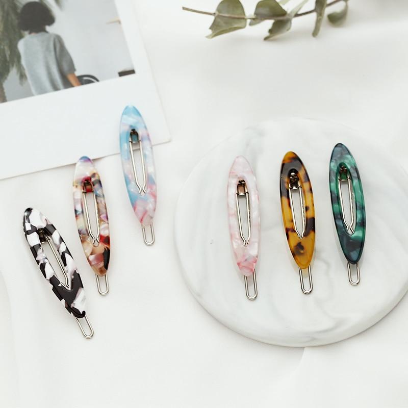 2019 New Acetate Leopard Print Small Hair Clips Barrettes Women Girls Cute Hairpins Headband Headwear Fashion Hair Accessories