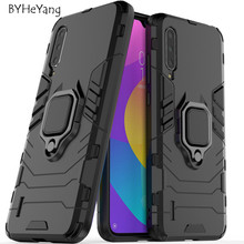 For Xiaomi Mi CC9 Case Cover Car Holder Magnetic Suction Ring Bracket Shockproof Armor for