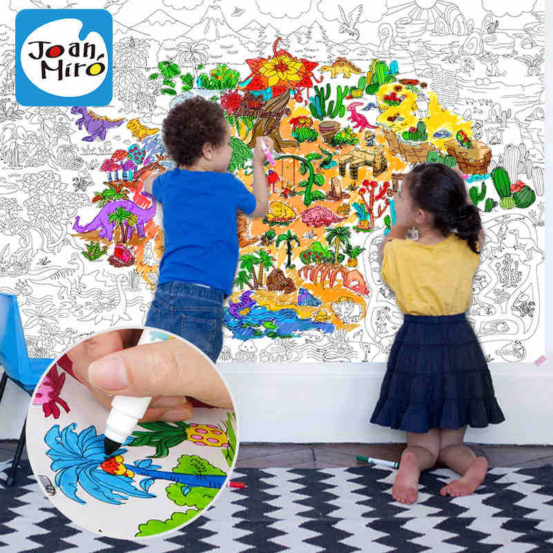 115080m childrens coloring book scene painting theme painting graffiti coloring miaohong this baby - Kids Paint Book