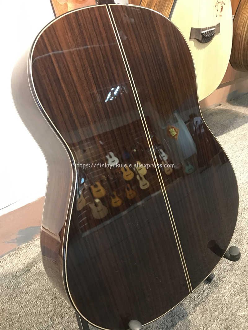 "Finlay 36 ""Guitarra Española hecha a mano, guitarra acústica sólida de cedro/palisandro, guitarra clásica con cuerda de Nylon 580MM gran venta"