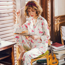 Spring Sexy Two Pieces Set Imitate Silk Women Sleepwear Ladies Satin Nightwear