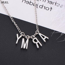 SMJEL KPOP Bangtan Boys Jimin Pendant Necklaces ARMY Letter Choker Necklace Women Men Love Yourself Jewelry Korean Fans Gifts