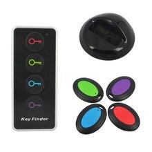 1-4 Wireless Key Finder Remoto Localizador Clave 4 receptores 1 muelle de la estación de seguridad en el hogar sistemas de alarma con Led linterna