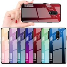 For Oneplus 7 Cover UYFRATE Slim Gradient Glass Phone Case Smooth Tempered Glass Cover Funda For Oneplus 7 7 Pro OnePlus 6T 6