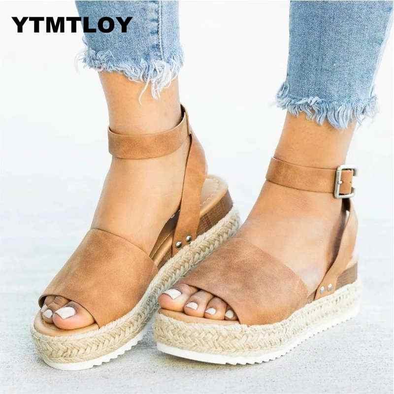SıCAK Sandalet Kadın Takozlar Ayakkabı Pompaları Yüksek Topuklu Sandalet Yaz Flip Flop Chaussures Femme platform sandaletler Sandalia Feminina