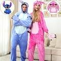Dragón puntada Dinosaur Pikachu Cat Kengurumi Adultos Animal Pijamas Onesies Pijama Disfraces de Halloween Para Las Mujeres de Los Hombres