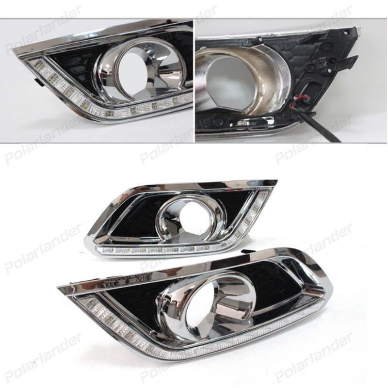 2pcs car styling LED Fog Lamp Daytime Running Light For B/uick E/ncore 2013-2015 Turn Signal lights