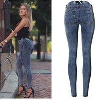 Sexy Low Waist leggings Jeans Woman Peach Push Up Hip Skinny Denim Pant For Women Boyfriend Jean For Women Elastic Jeans