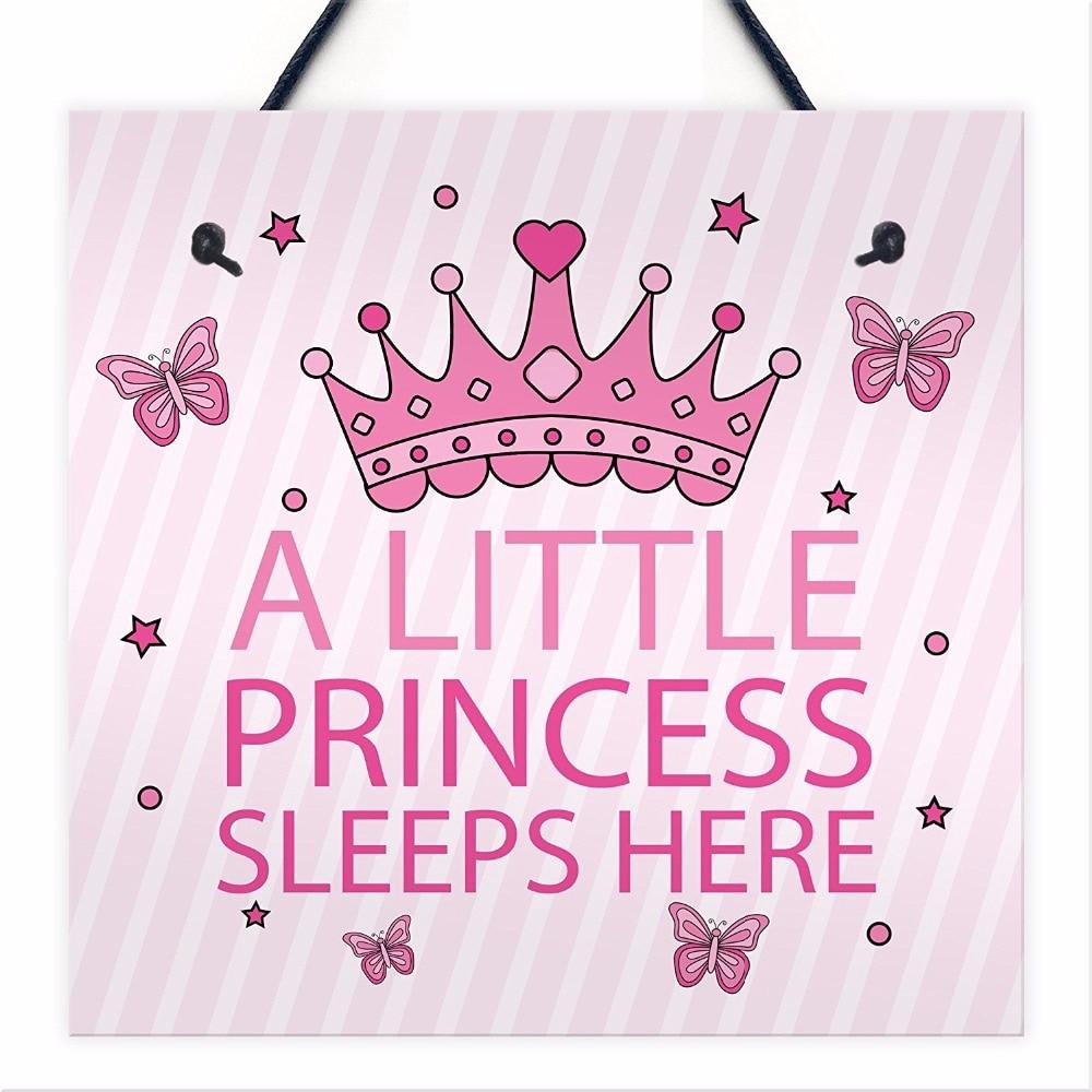 Meijiafei Princess Sleeps Hanging Wall Door Plaque Nursery