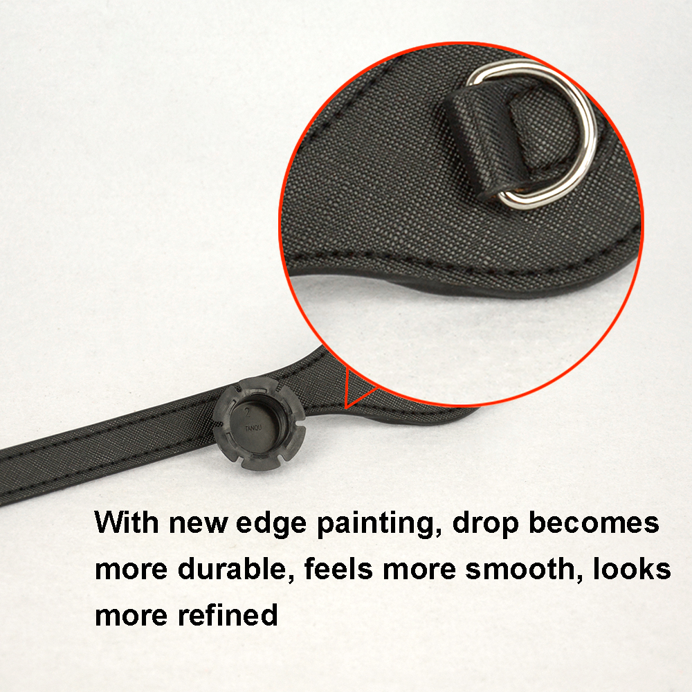 Image 2 - Tanqu flat Short Long handles Edge Painting D Buckle Faux Leather Handles for Obag Handles for EVA O Bag flat handleBag Parts & Accessories   -