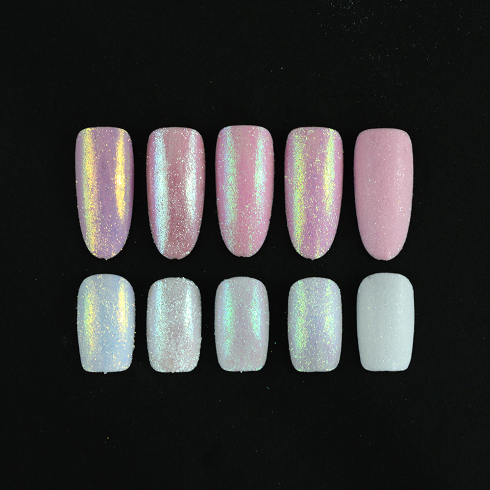 Image 5 - New Fashion 1 Bottle Shining Nail Glitter Dust Sugar Coating Effect Powder DIY Decoration Dust Nail Art Manicure Tool BETY01 05-in Nail Glitter from Beauty & Health