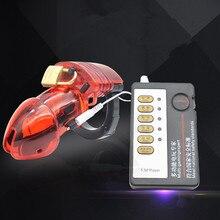 Игры для взрослых новейшие электрические Мужской Целомудрие Дик клетка петух клетка electro Shock Секс-игрушки для Для мужчин