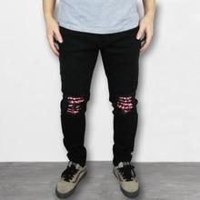 VFIVEUNFOUR 2019 NEW Vintage fashion mens destroyed jeans hole casual pants jogger hip hop slim ripped Pencil Pants