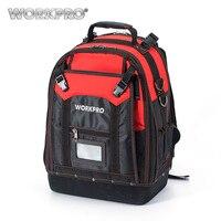 WORKPRO Waterproof Tool Backpack Tradesman Organizer Bag Multifunction Knapsack With 37 Pockets