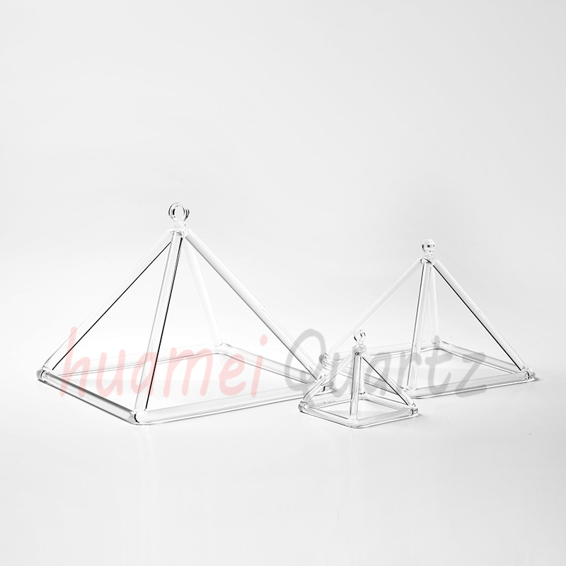 Quartz Crystal Singing Pyramid 10'' - For Healing and Therapy nature aventurine quartz crystal pyramid point healing