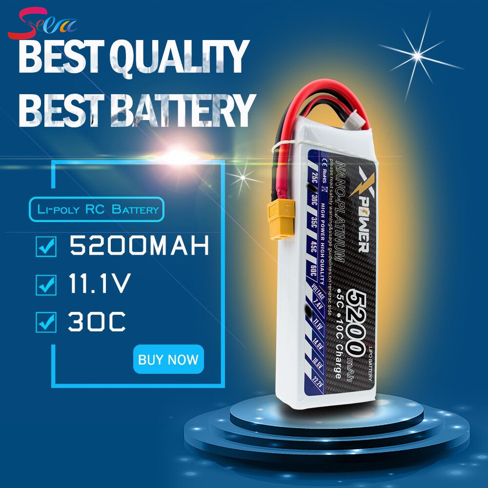1pc XT60 T Plug 5200Mah 11.1V 3S 30C Li-po Battery For DIY Racing RC Helicopter Qudcopter Drone Truck Car Boat parts 2pcs t plug 5200mah 11 1v 3s 30c lithium li po battery for diy racing rc helicopter qudcopter drone truck car boat parts