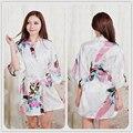 S-xxxl 2016 mulheres roupões de Yukata japonês quimono de cetim de seda do Vintage Robe pijamas Sexy pijama de Lingerie 8 cores camisolas