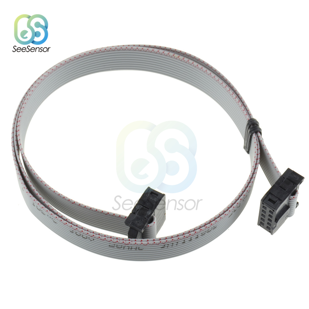 70cm 10 Pin 2.54mm Connector USB ASP ISP JTAG AVR Wire 10P IDC Flat Ribbon DATA Cable