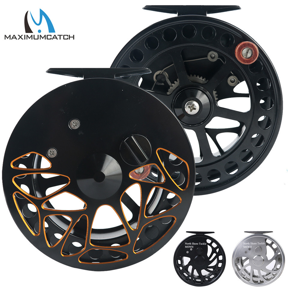 Maximumcatch Center Pin Floating Fishing Reel Aluminum 6061 T6 Fly Fishing Reel Silver Black Color