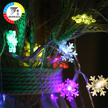 Coversage 10M 100 Leds Fairy String Garland Kerstboomgordijn Sneeuw Buiten Decoratief Gordijnverlichting Luces Led Navidad