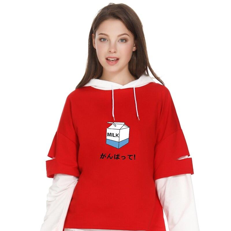 Letter printed cute harajuku women Hoodies Japan Milk Peach INU INU Kawaii  cotton cartoon brand Sweatshirt top loose Pullover-in Hoodies   Sweatshirts  from ... 42b8fd3a3b