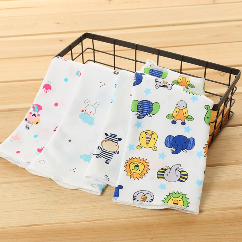 NoEnName-Null Baby Towel 25x25cm Thin Blend Cotton Soft Wipe Food Washing Face Square Children