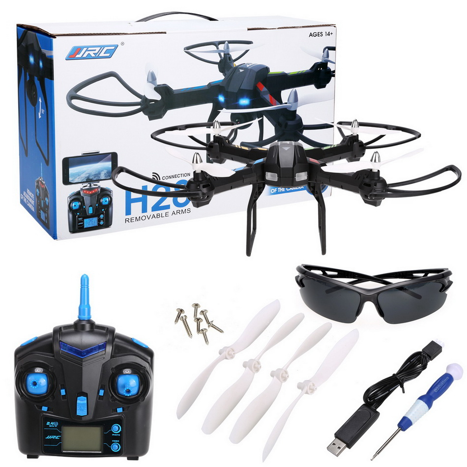 ФОТО New Arival JJRC H28 Helicopter Drone 2.4GHz 6 Axis Gyro Portable RC Quadcopter Eversion CF Mode One Key Return with LED Light