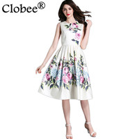 Clobee New 2017 Summer Women S Sleeveless Print Vest Dress Femme Casual Clothing Fashion Women Sexy