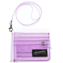 Fashion Women's Solid Color Jelly Card Wallet Support Whol