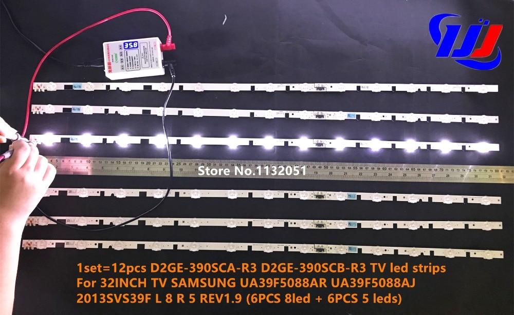 samsung tv led strips. 1set\u003d12pcs d2ge 390sca r3 390scb tv led strips for 32inch samsung ua39f5088ar ua39f5088aj 2013svs39f l 8 r 5 rev1.9 -in led television from samsung tv