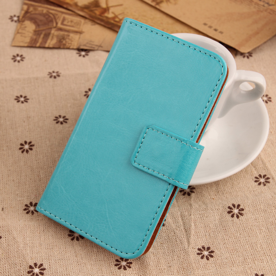 Color q online - Lingwuzhe Pure Color Book Desige Cover Cell Phone Pu Leather Flip Case For Sky Devices 6 0