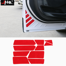 JHO 4 Door Reflective Open Safety Warning Stickers For Ford Explorer 2011-2018 2015 16 Jeep Grand Cherokee 2014-2017 Car Styling цены онлайн