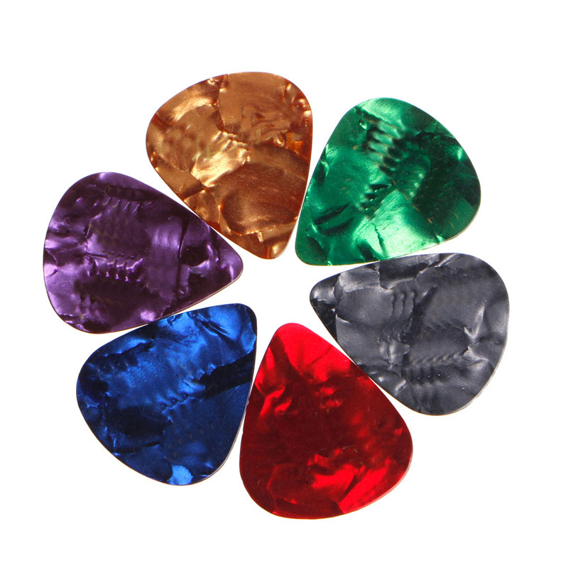 24Pcs Acoustic Electric Guitar Celluloid Picks Plectrum Plectra Various 0.71mm
