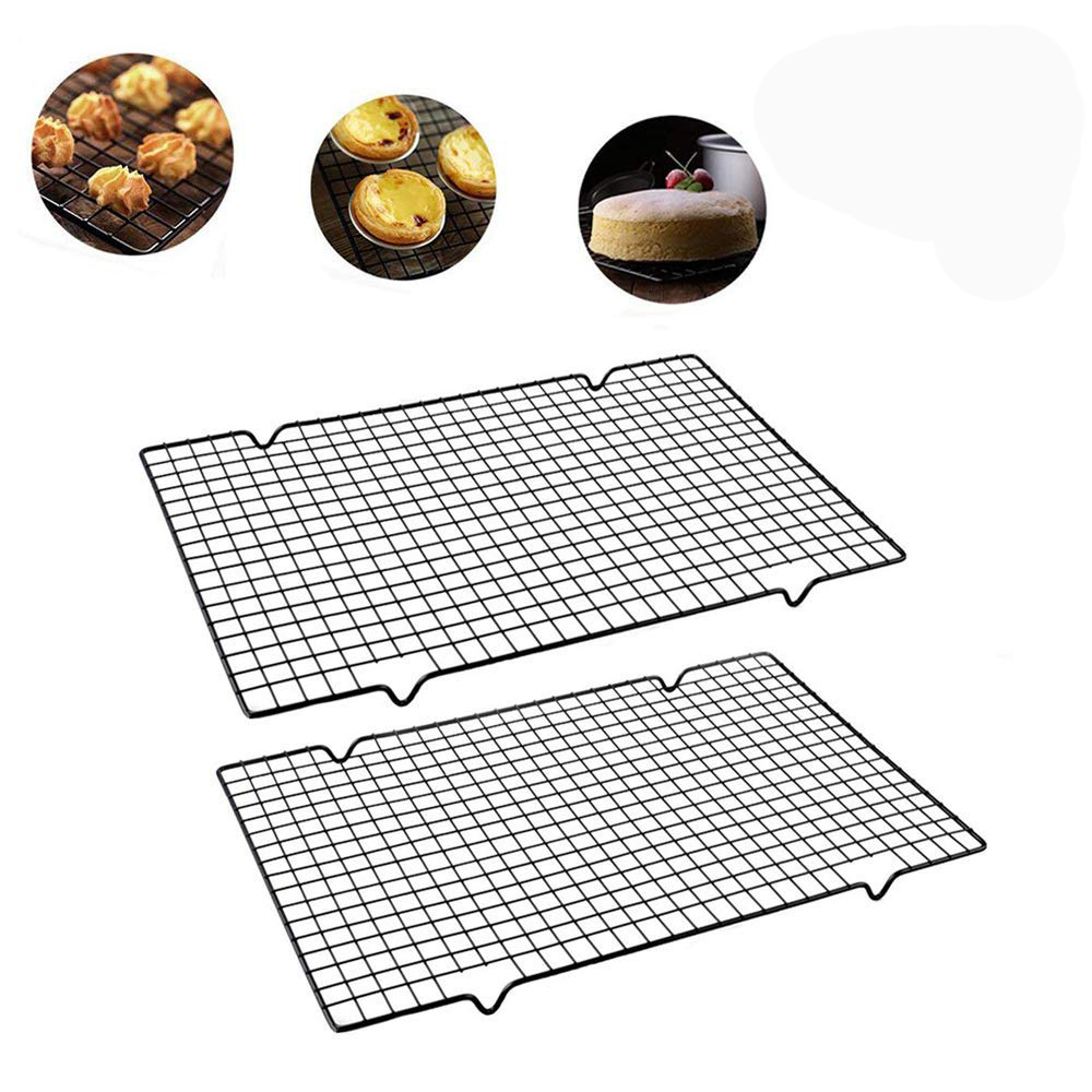 Cooling Rack Baking Rack Twin Set  Stainless Steel Oven And Dishwasher Safe Wire Rack  Fits Half Sheet Cookie Pan