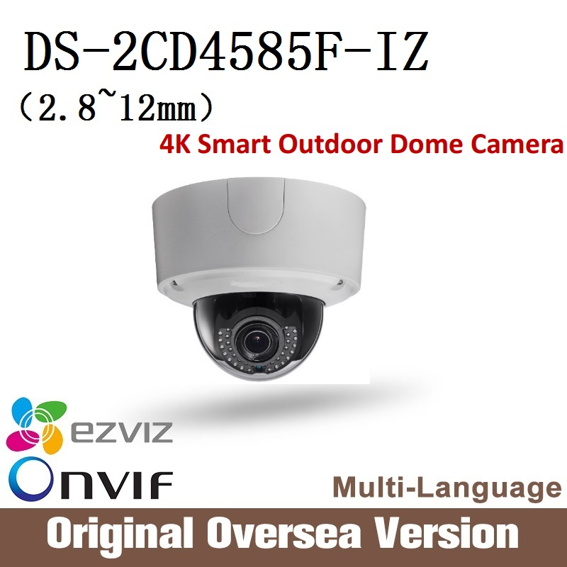 HIKVISION  Ip 8MP dome Camera DS-2CD4585FWD-IZ 2.8-12mm 4K Smart Outdoor Dome Camera English Version Onvif RJ45 upgrade support сетевая ip камера hikvision ds 2de2204iw de3 2 8 12 мм