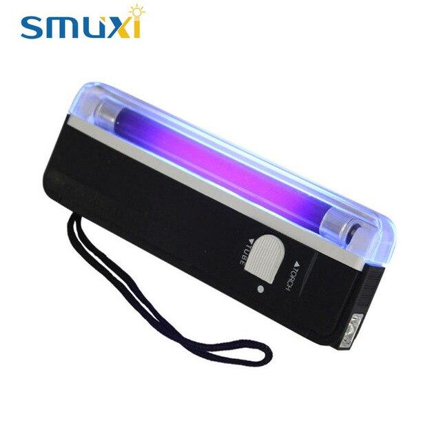 2in1 4W Ultraviolet Lamp Portable Handheld UV Light Torch Purple ...