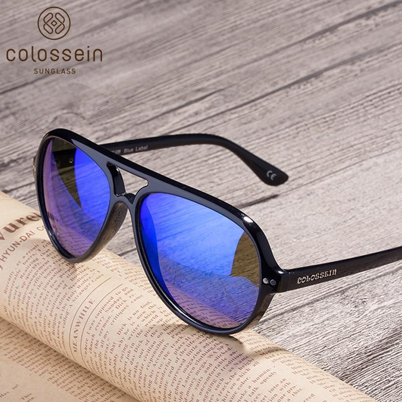 COLOSSEIN Pilot Sunglasses Polarized Classic Fashion Eyewear Oval Lenses UV400 Retro Female Men Fashion Goggle 2018 Sun Glasses