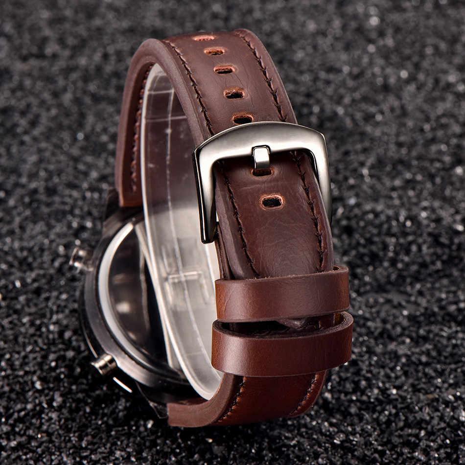 Reloj de alta calidad para hombre de cuarzo deportivo militar ejército LED relojes analógicos de pulsera de acero inoxidable buenos regalos Dropshipping