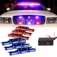 CYAN SOIL BAY Red Blue 54 LED 54LED Emergency Warning Car Vehicle Police Dash Grill Strobe