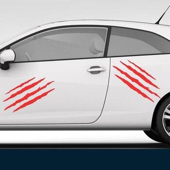 2X когти Графический стикер Виниловая Наклейка окна автомобиля гладкая поверхность мотоцикл бампер внедорожника окна автомобиля наклейки
