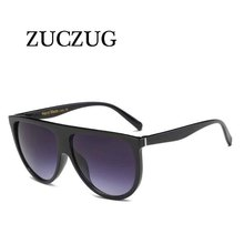 ZUCZUG 2017 Retro Oversized Sunglasses Women Flat Top