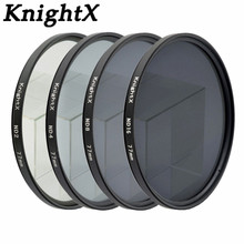 KnightX ND2 ND4 ND8 ND16 ND FILTER for Nikon D3100 D3200 D5200 D7100 for Canon 1100d 1200D 49mm 52mm 55mm 58mm 62mm 67mm 72 77mm