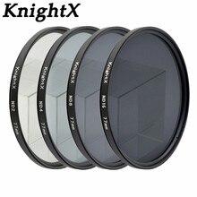 Фильтр KnightX ND2 ND4 ND8 ND16 ND для Nikon D3100 D3200 D5200 D7100 для Canon 1100d 1200D 49 мм 52 мм 55 мм 58 мм 62 мм 67 мм 72 77 мм