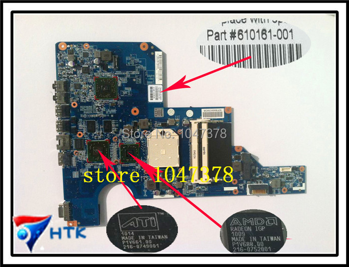 Wholesale  Laptop Motherboard For HP G72 G62 Mainboard 610161-001 Non-integrated 100% Work Perfect for hp g62 g72 laptop motherboard with graphics 615848 001 01013y000 388 g
