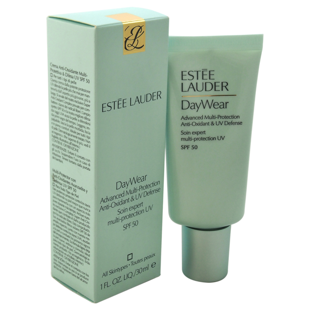 DayWear Advanced Multi-Protection Anti-Oxidant & UV Defense SPF50-All Skin Types by Estee Lauder for Unisex - 1 oz Lotion крем gigi advanced peeling cream for all skin types