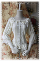 High Quality European Medieval Vintage Style Sweet Daily Lolita Shirt Lolita Costumes