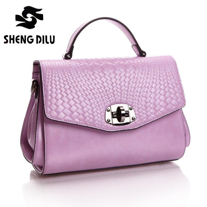 ShengDiLu Women Messenger Bags Genuine Leather Cowhide Tassel Ladies Satchel Handbags Real Skin Casual Woman Crossbody Shoulder
