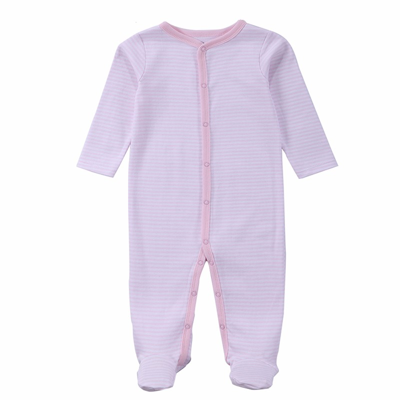 2 Pcslot Baby Clothes Baby Boy Girls Footed Romper Baby Rompers 100% Cotton Sleep & Play Clothes Baby Pajamas Newborn Clothing (4)