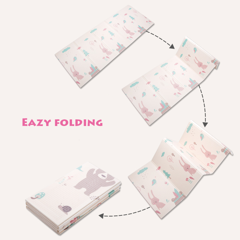 Image 3 - Infant Shining Foldable Baby Play Mat Thickened Tapete Infantil Home Baby Room Puzzle Mat  XPE 150X200CM Splicing 1CM Thickness-in Play Mats from Toys & Hobbies